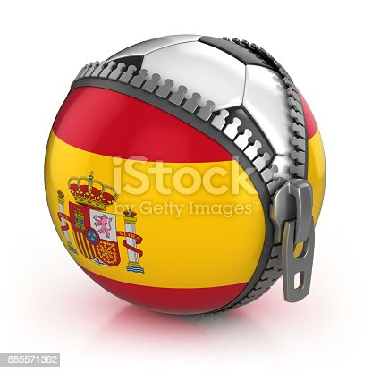 istock Spain football nation 3d isolated illustration 885571362