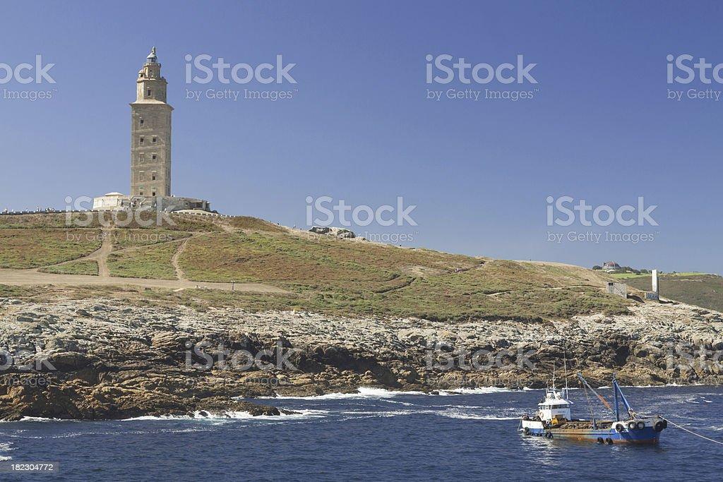 Spain, Galicia, A Coruna, Hercules Tower Lighthouse stock photo