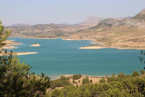 Spain - lake in Malaga Province ( Andalusia ) stock photo