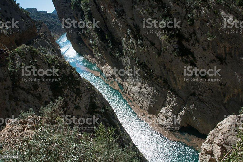 Spain landscape gorge stock photo