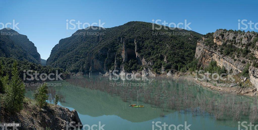 Spain landscape lake stock photo