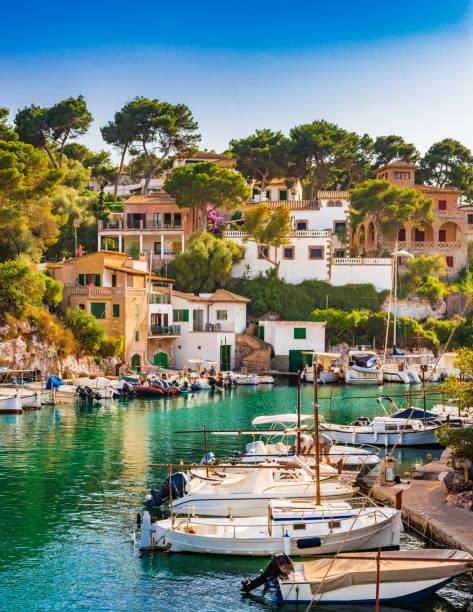 Espagne Majorque, vue idyllique du port de pêche de Cala Figuera, îles Baléares - Photo