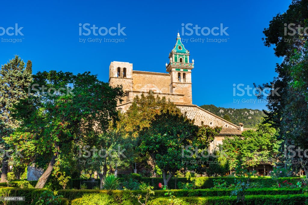 Spain Majorca monastery of Valldemossa stock photo