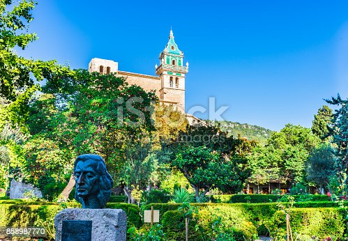 Charterhouse of Valldemossa on Mallorca island.