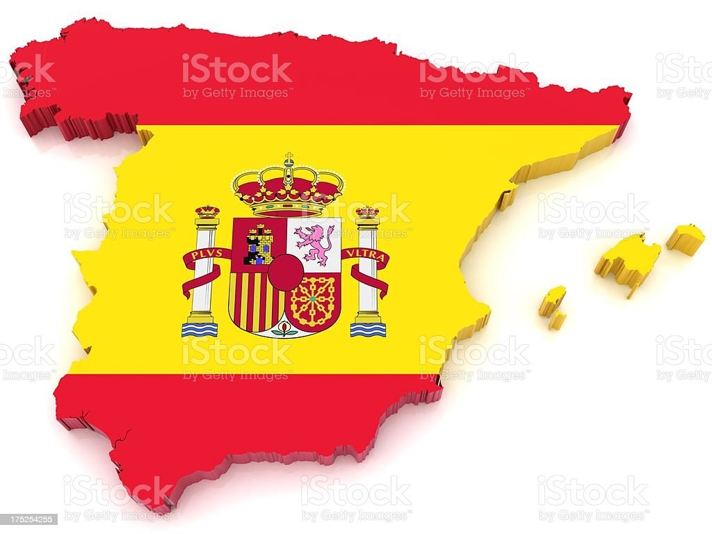 Spain Map royalty-free stock photo