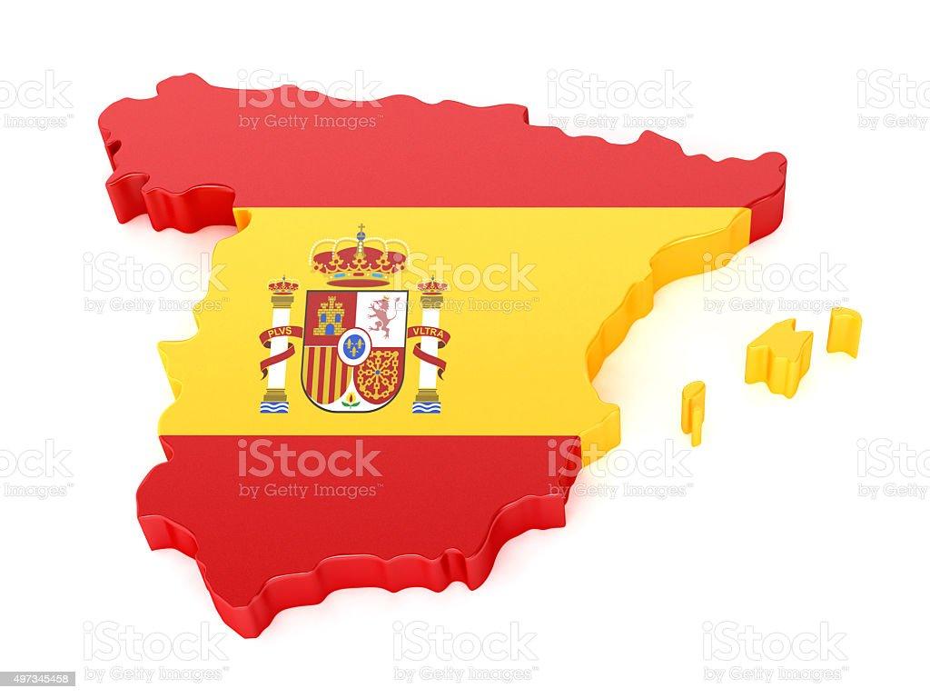 Mapa de Espanha - foto de acervo