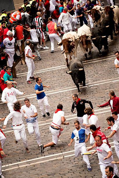 Spanien Navarra Pamplona 11. Juli 2015 Laufen mit die Stier – Foto