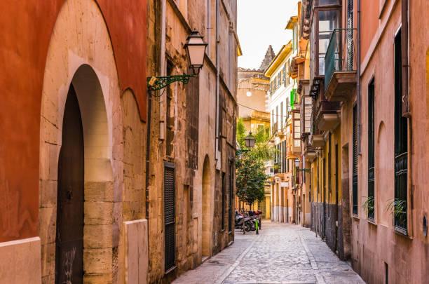 Espagne, rue de Palma de Majorque en plein centre ville historique - Photo