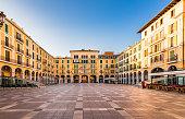 Idyllic view of Plaza de Mayor of Palma de Majorca, Spain Balearic Islands