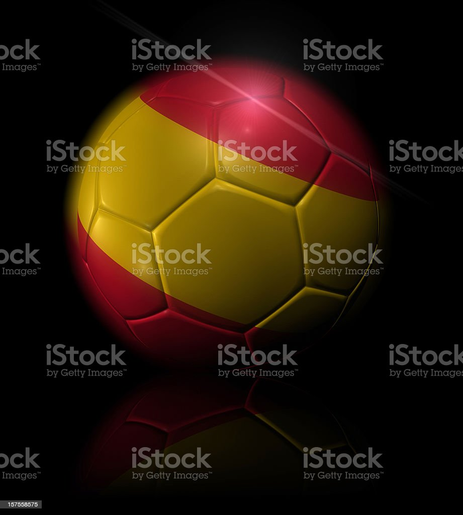 spain soccer ball royalty-free stock photo
