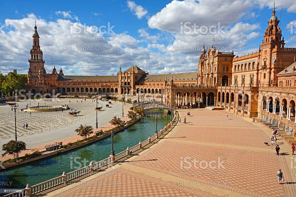 Spain Square in Seville stock photo