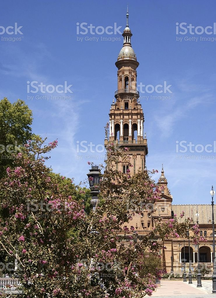 Spain Square, Seville royalty-free stock photo