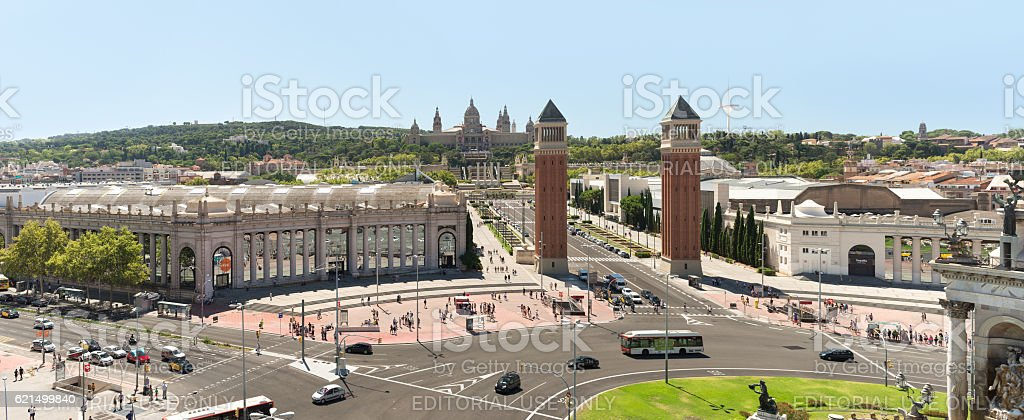 Spain SquareBarcelona  - Spain foto stock royalty-free
