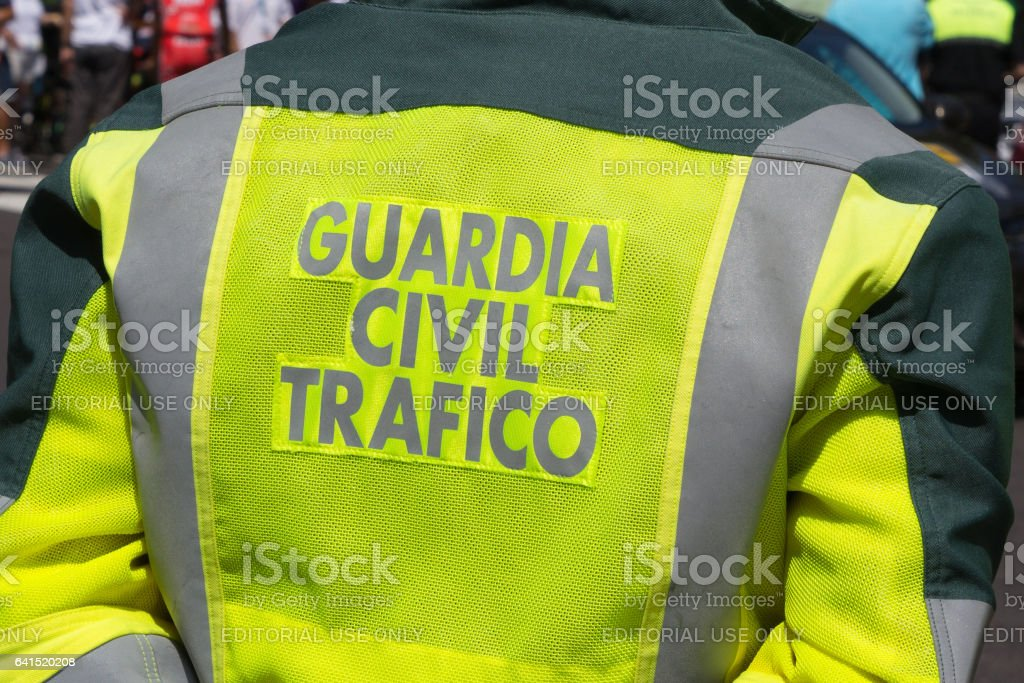 Spain Traffic Police foto de stock libre de derechos