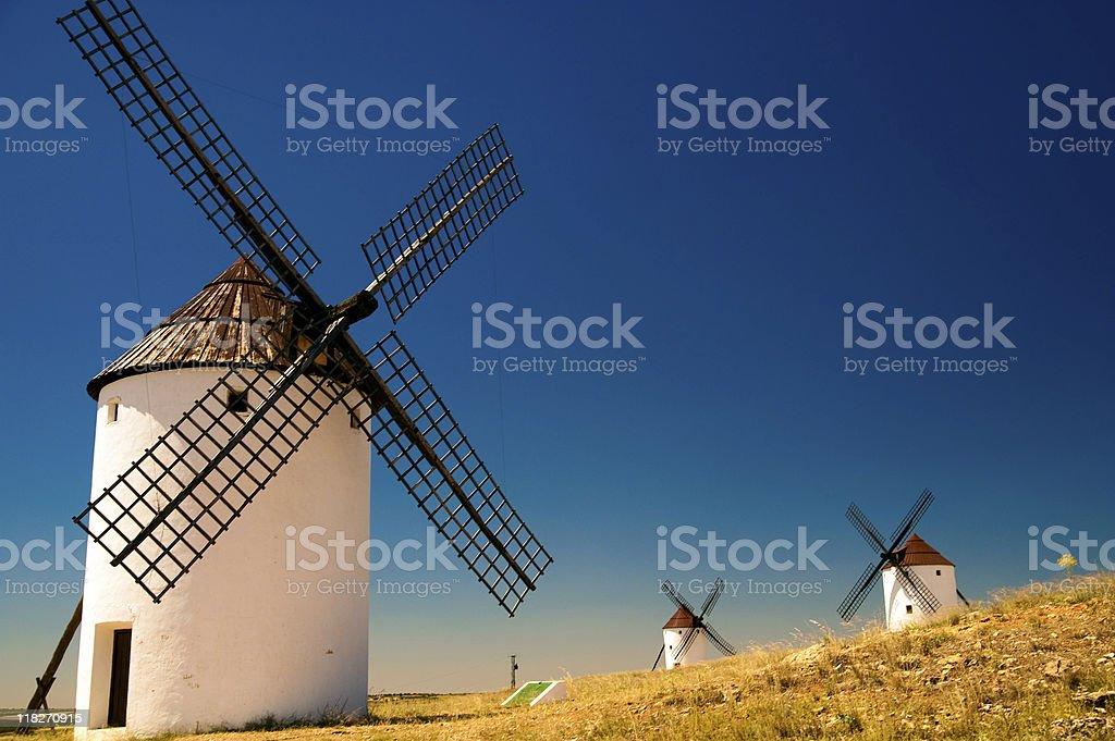 Spain windmills royalty-free stock photo