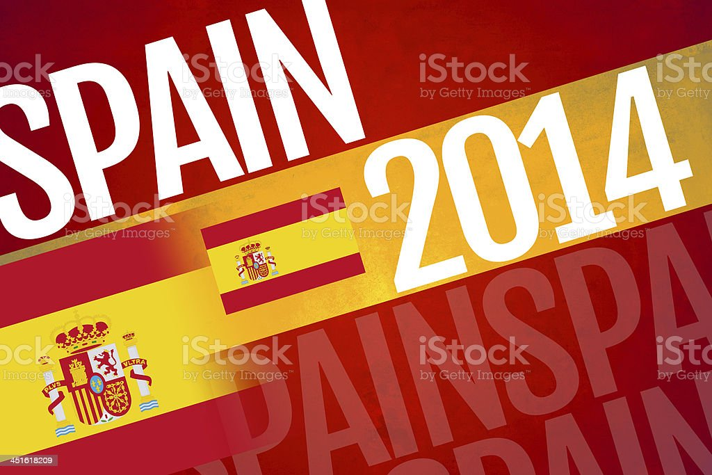 Spain written on abstract background royalty-free stock photo