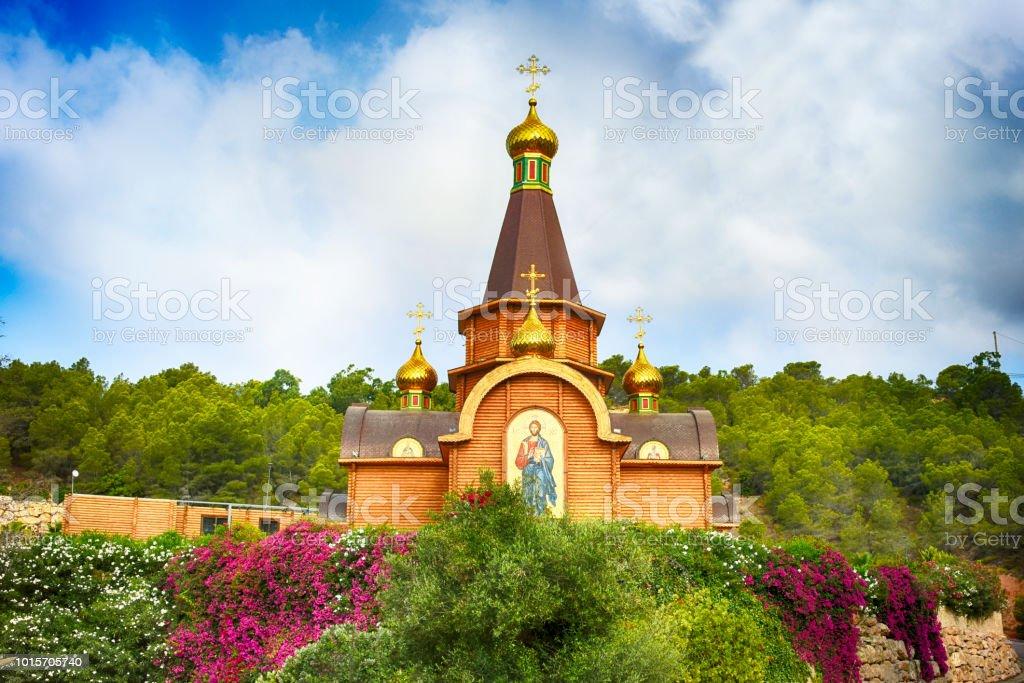 Spanien, Valencia, Alicante, Altea, Altea Hills - 21. Juli 2017: Spaniens erste Russisch-Orthodoxe Kirche, die Kirche des Erzengels Saint Michael ist eine exakte Nachbildung von einem 17. Jahrhundert orthodoxe Kirche in Russland. – Foto