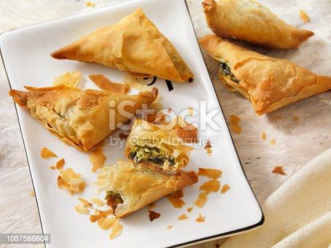 Spanakopita, Spinach and Feta in Filo Pastry