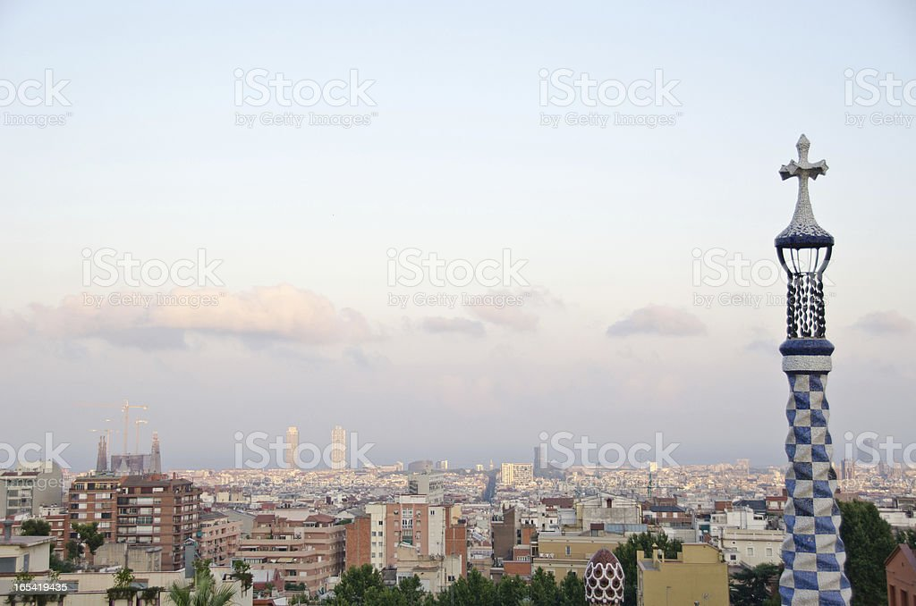 Spanish architect Gaudi's famous Parc Guell in Barcelona, Spain royalty-free stock photo