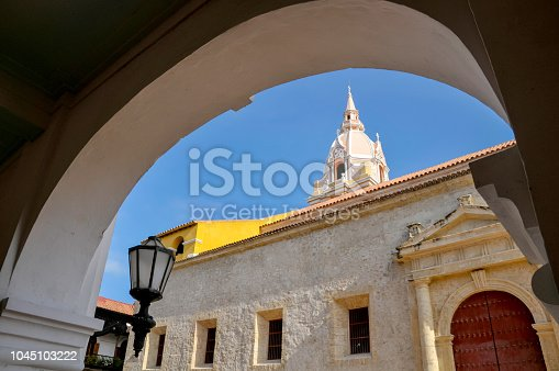 1148861090istockphoto Spanish architecture church in the streets of Cartagena. Colombia 1045103222