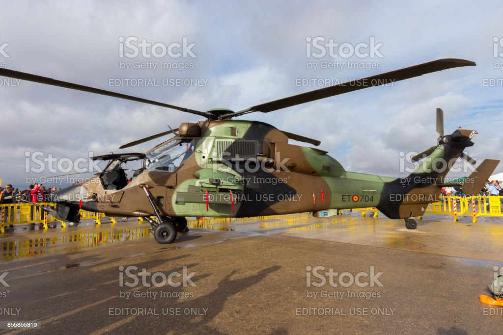 Spanish Army Tiger attack helicopter stock photo