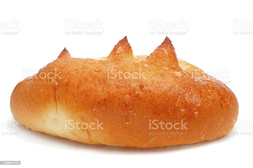 Spagnolo bollo suizo, pan brioche di zucchero - foto stock