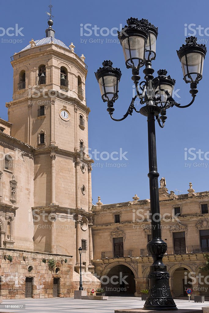Spanish building, Lorca stock photo