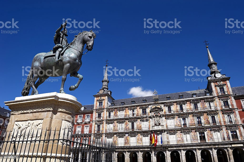 Spanish building. Madrid royalty-free stock photo