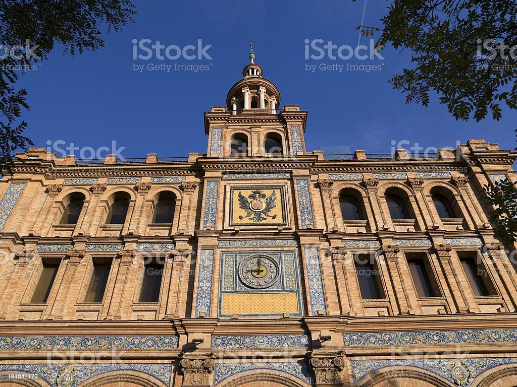 Spanish building. Madrid royalty-free stock photo