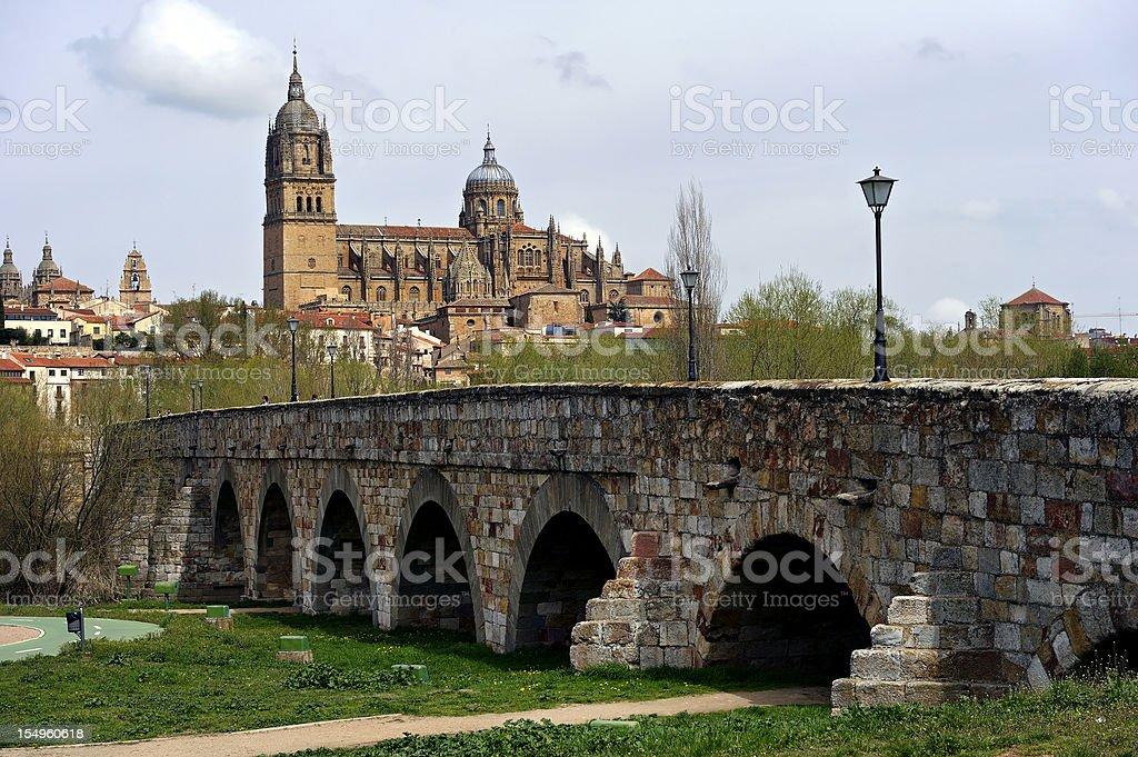Spanish building. Salamanca stock photo