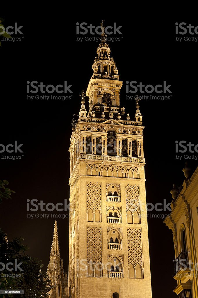 Spanish building. Sevilla royalty-free stock photo