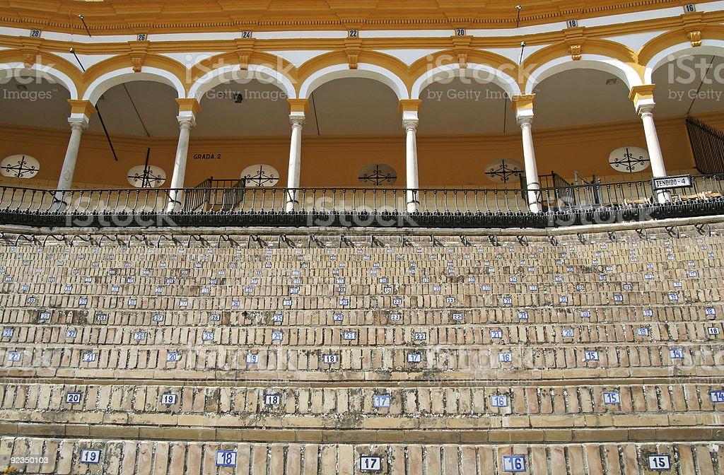 Spanish bullfight arena royalty-free stock photo