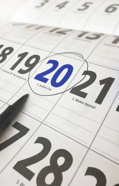 Spanish Calendar Day Marked With A Pen Stock Photo & More Pictures