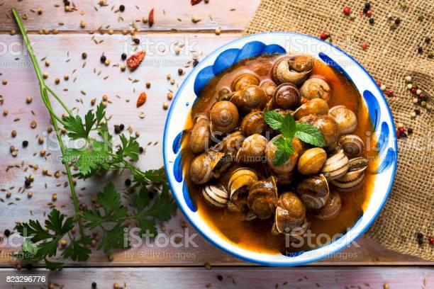 Spanish caracoles en salsa cooked snails in sauce picture id823296776?b=1&k=6&m=823296776&s=612x612&h=uybqvumpevdlzjnypa5fcqhg3qa5eswhqhb5rwaa1vq=