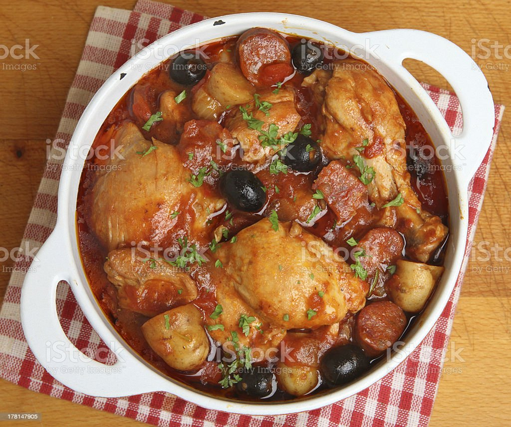 Spanish Chicken Casserole stock photo