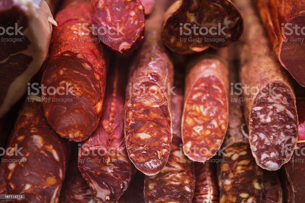 spanish chorizo stock photo