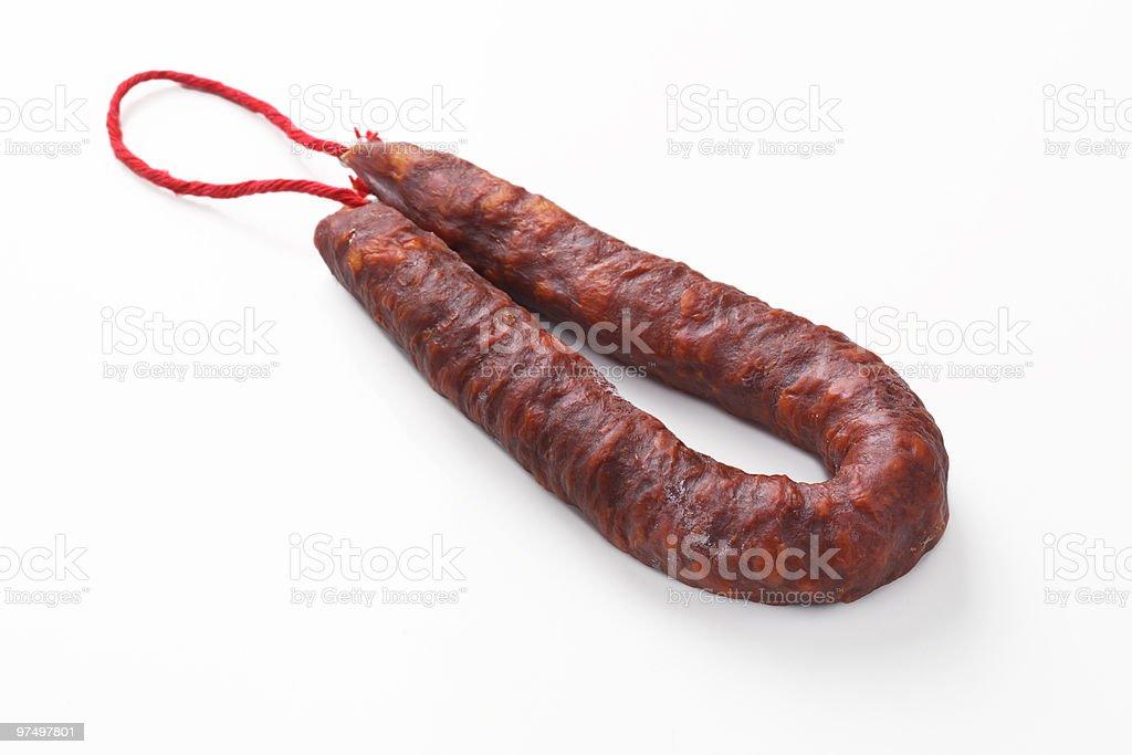Spanish Chorizo royalty-free stock photo