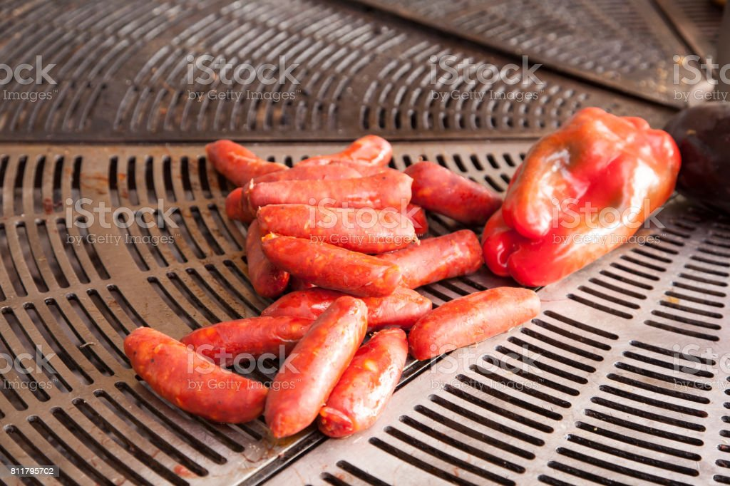 Spanish chorizo sausage stock photo