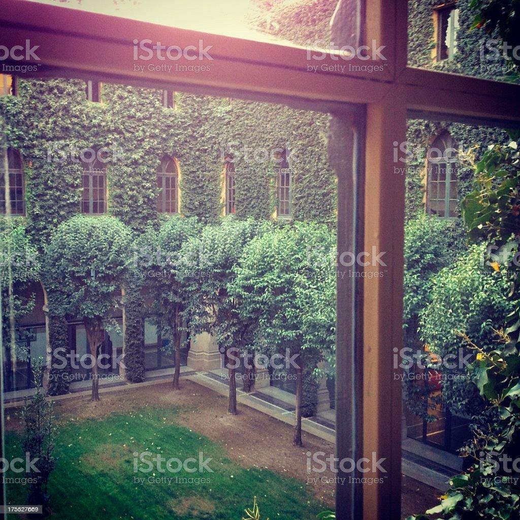 Spanish classic patio stock photo