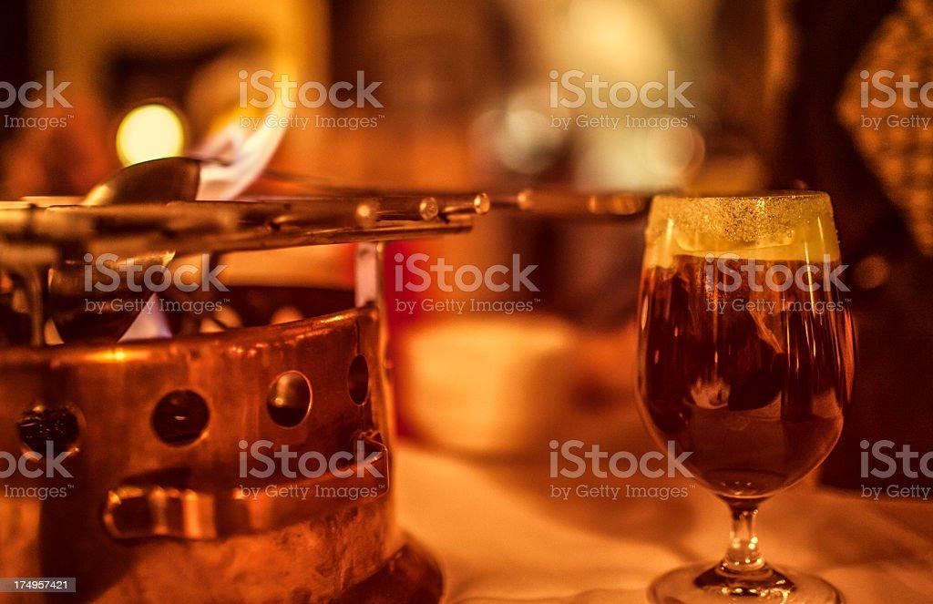 Spanish coffee royalty-free stock photo