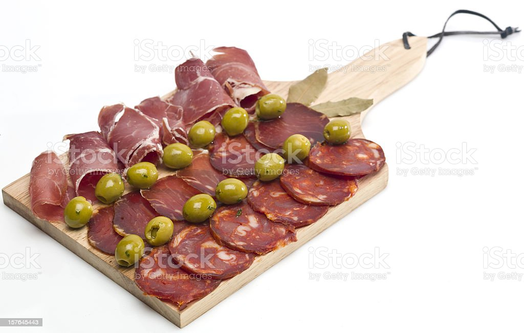 Spanish Cold Cuts royalty-free stock photo