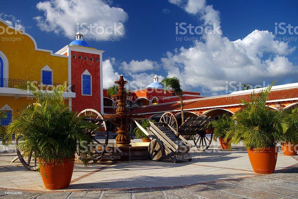 Spanish Colonial Hacienda stock photo