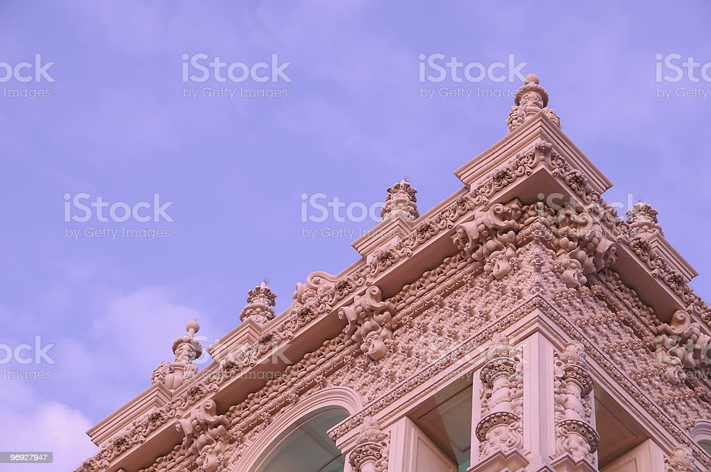 Spanish Colonial Revival Architecture. royalty-free stock photo