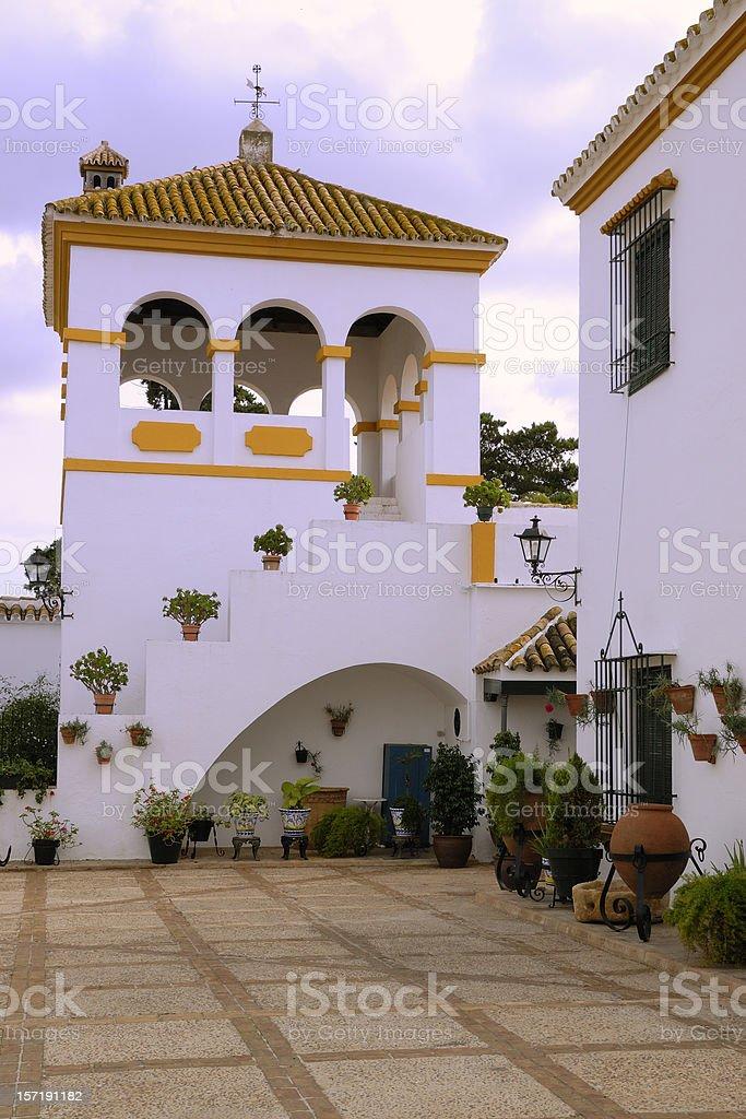 Spanish cortijo or hacienda royalty-free stock photo