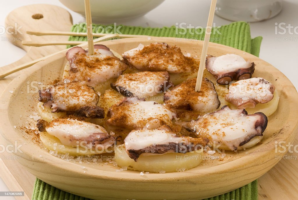 Spanish cuisine. Octopus Galician style. royalty-free stock photo