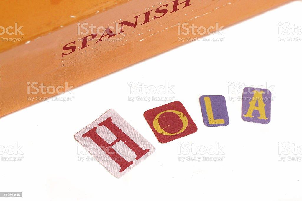 spanish dictionary royalty-free stock photo