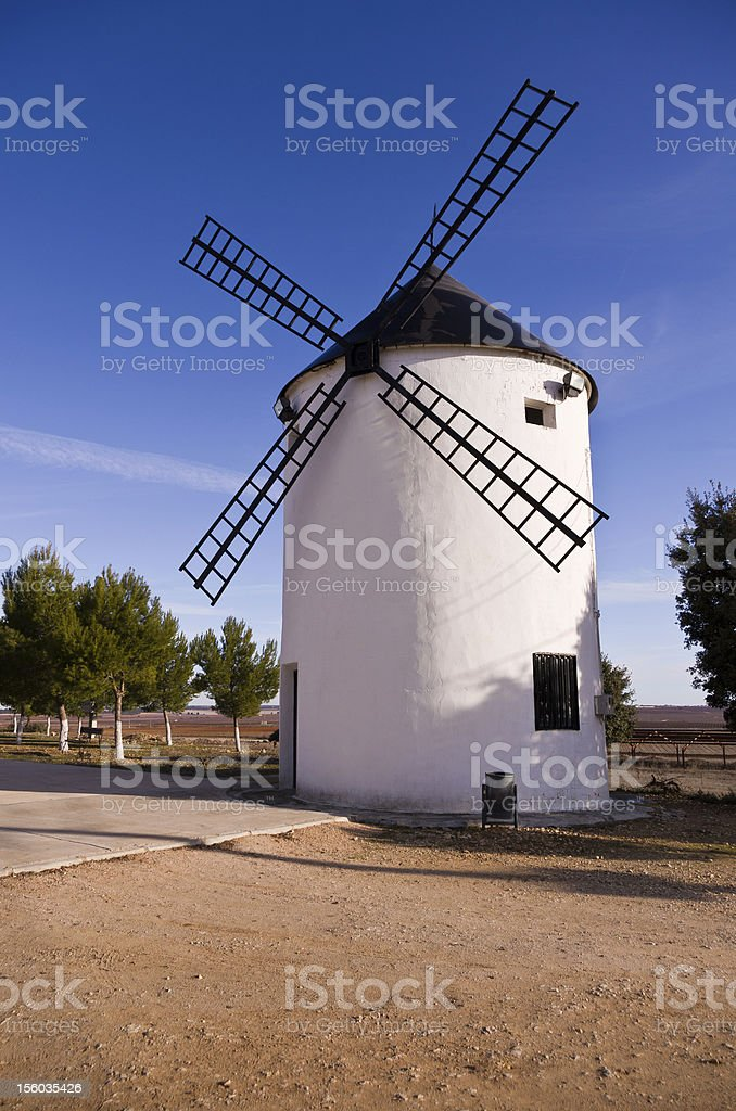 Spanish 'Don Quixote' Windmill stock photo