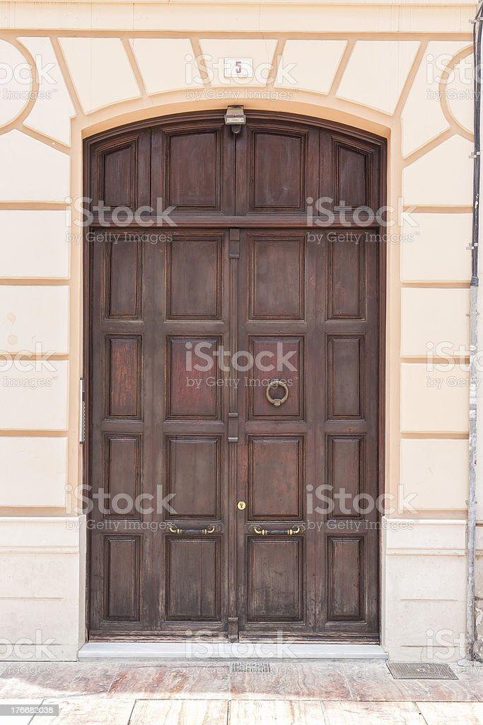 Puerta español foto de stock libre de derechos