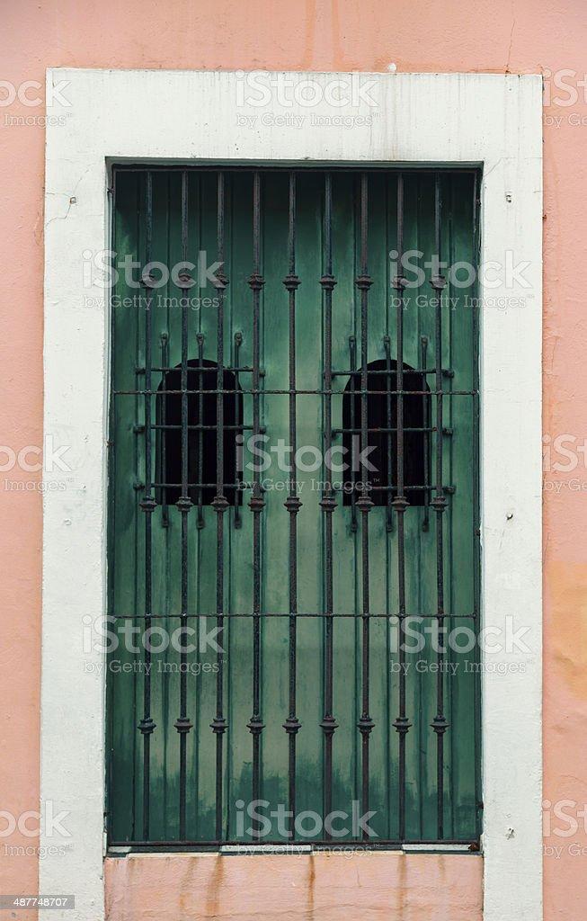 spanish door stock photo