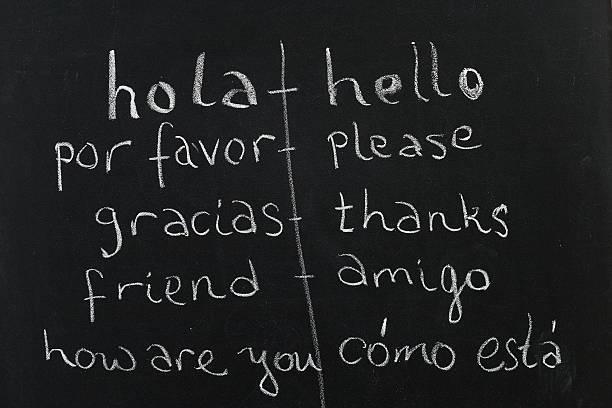 spanisch/englisch-kurs - spanisch translator stock-fotos und bilder